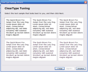 cleartype Setting wizard