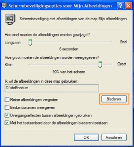 Schermbeveiliging in Windows XP