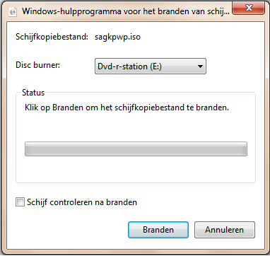 Windows 7 ISO branden