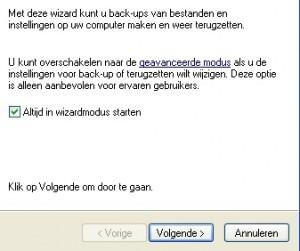 Back-up Windows XP