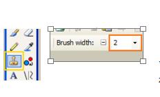 Clonetool en brush width