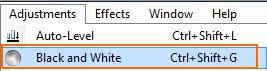 Zwart wit, uitleg Gimp