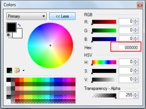 Colorpicker paint