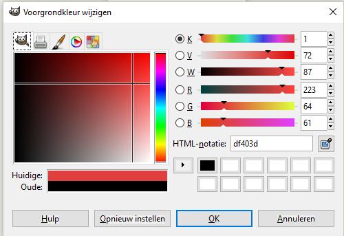 HTML Kleur code