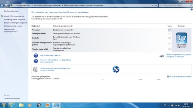 Windows benchmark-HP-Pavilon DM1