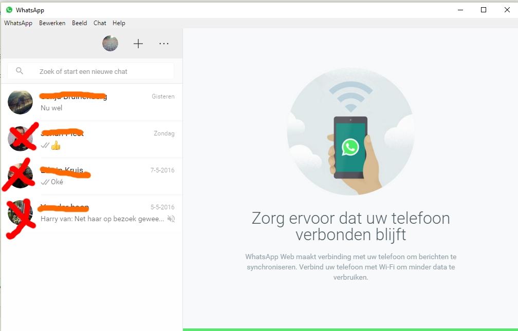 Whatapp op computer